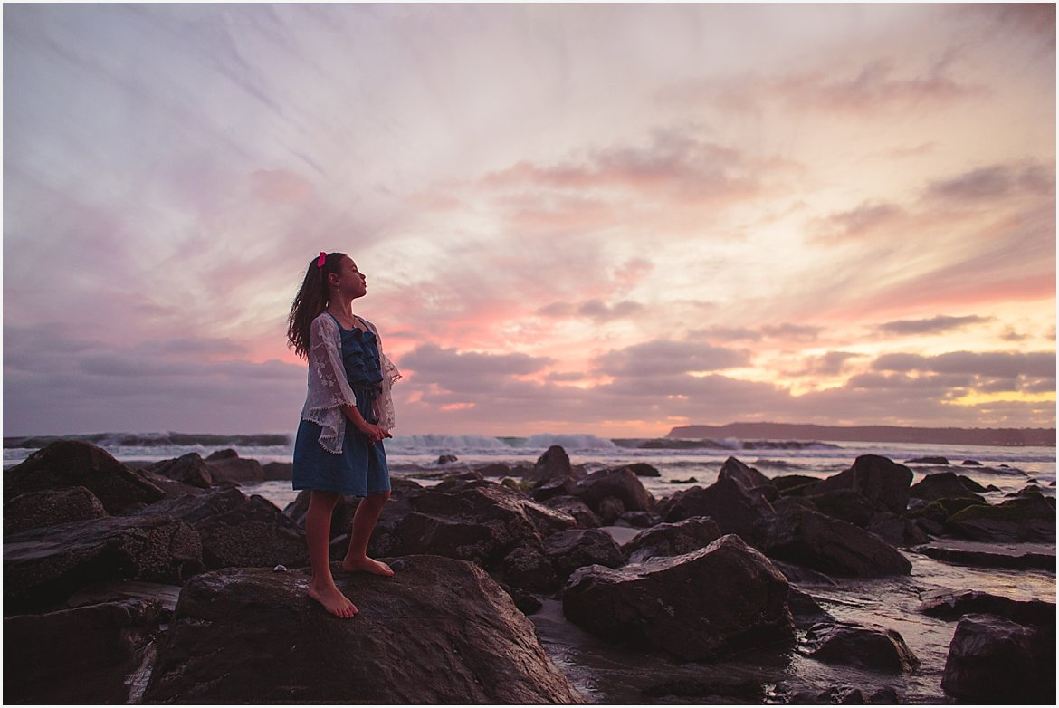 Girl at Sunset | San Diego Beach Photographer