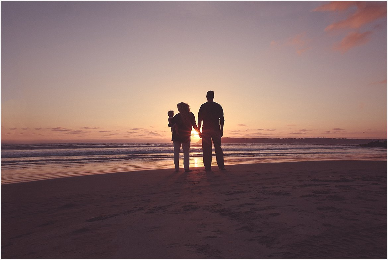 Silhouettes on the Beach | San Diego Child Photographer