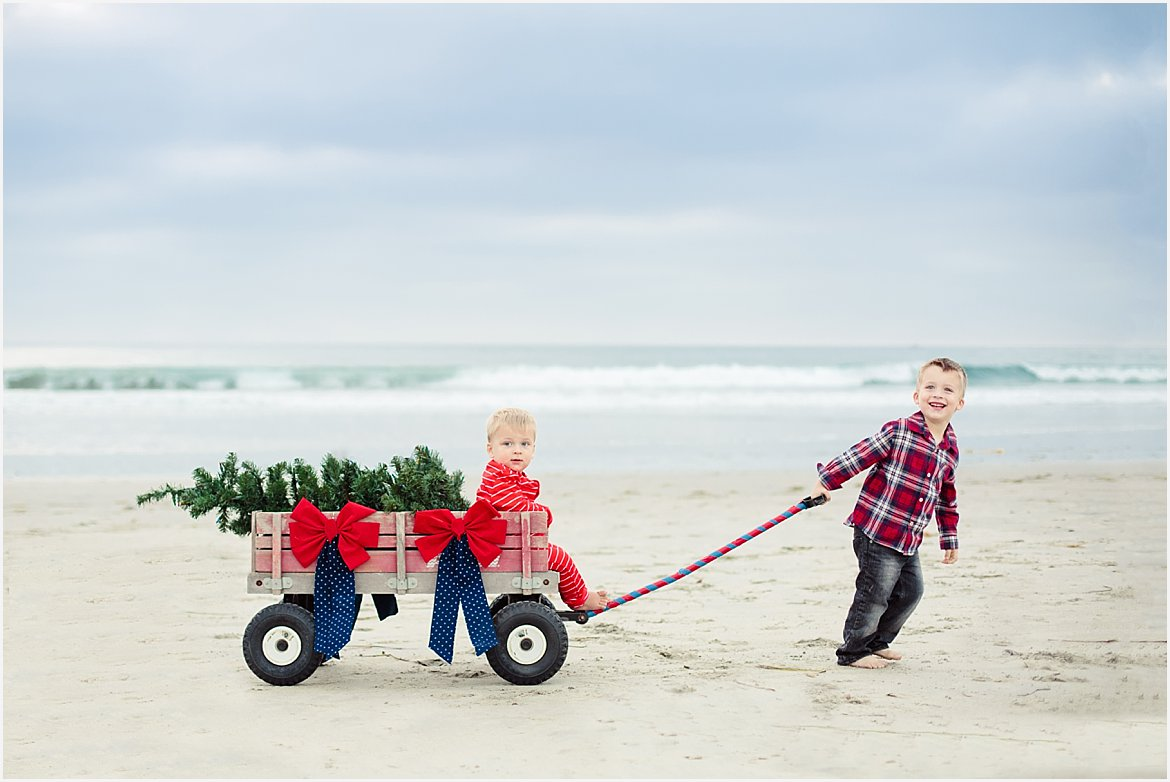 christmas tree on the beach san diego beach photographer - Beach Christmas Pictures