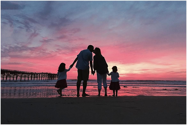 Sunset Silhouette | San Diego Beach Photography
