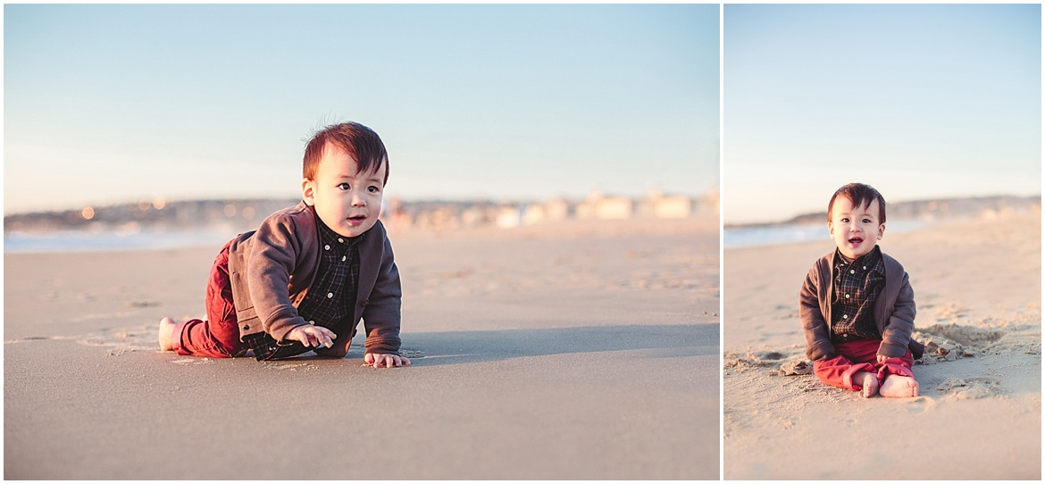 Baby Crawling in the  Sand | San Diego Beach Photographer