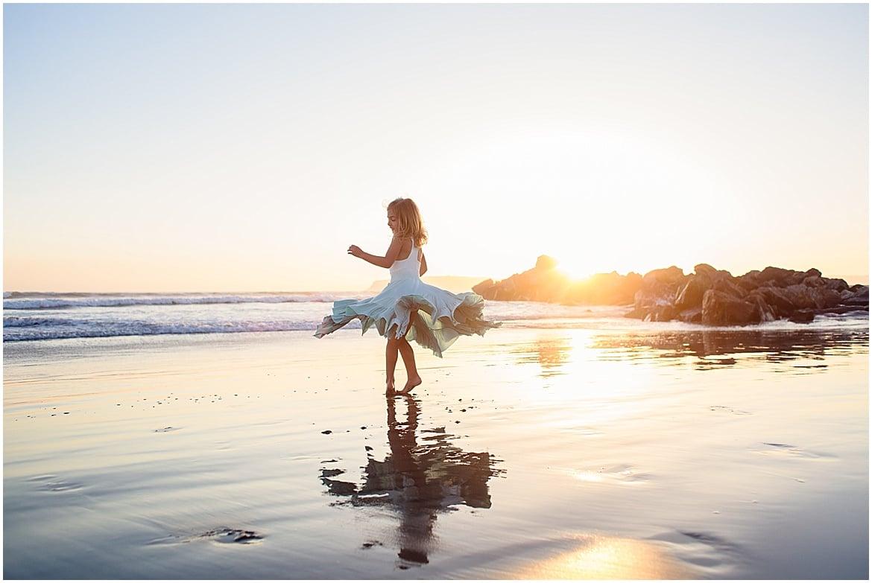 Twirling on the Beach | San Diego Beach Photos