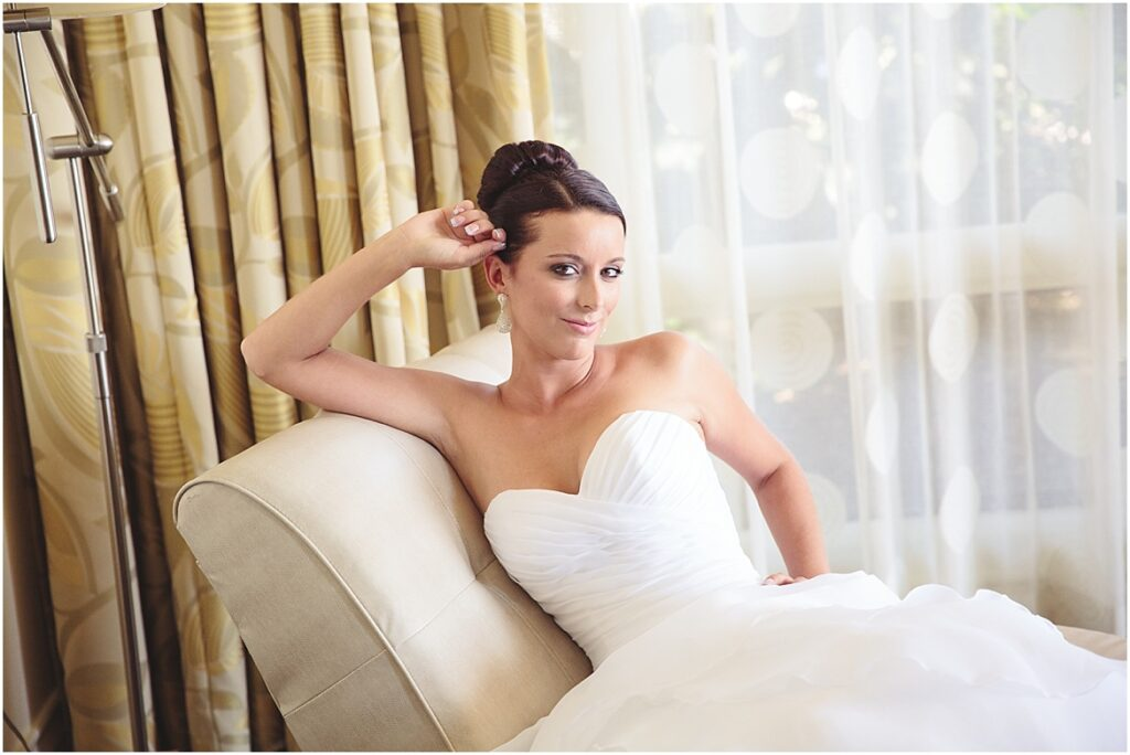 Bridal Photo on Couch