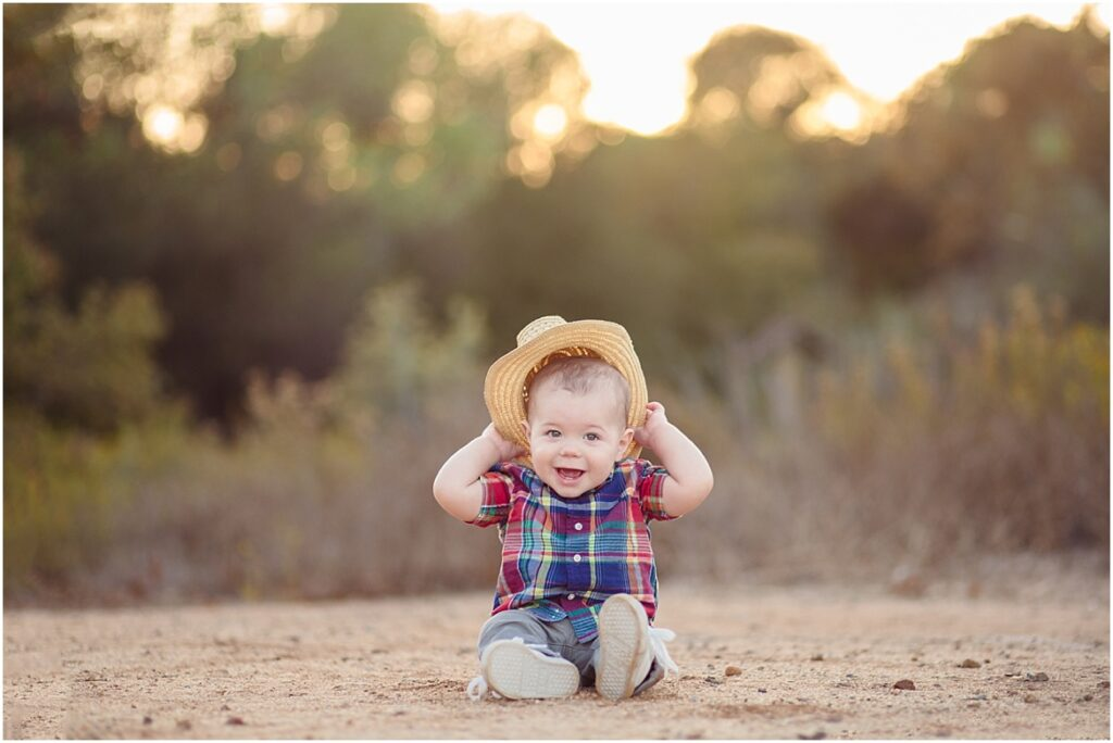 Baby Photos in Rustic Field