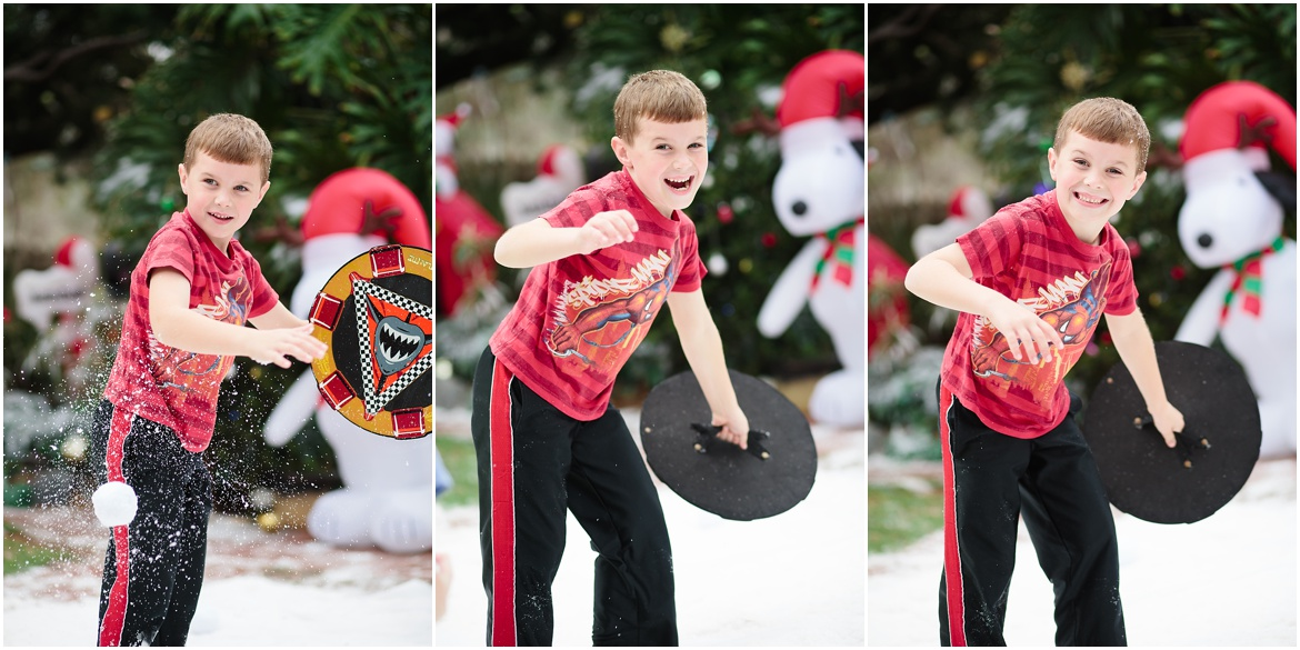 San Diego Photographer | Fake Snow Christmas Party