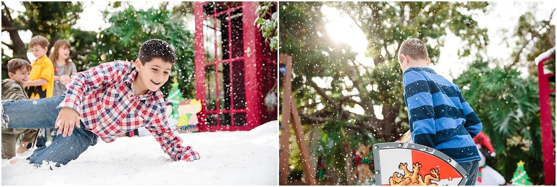 San Diego Photographer | Fake Snow Christmas Party