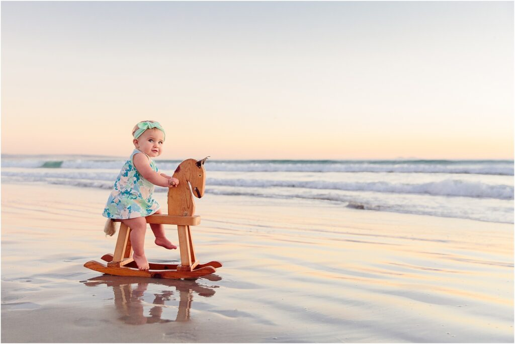 Rocking horse on the beach