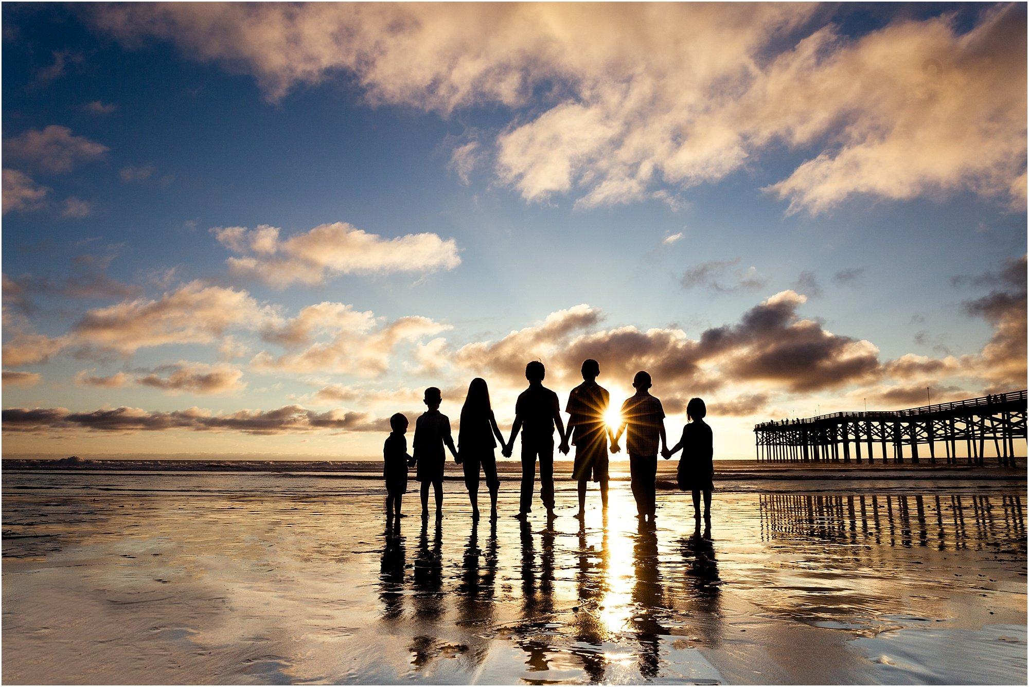 Crystal Pier Extended Family Beach Photography San Diego Beach
