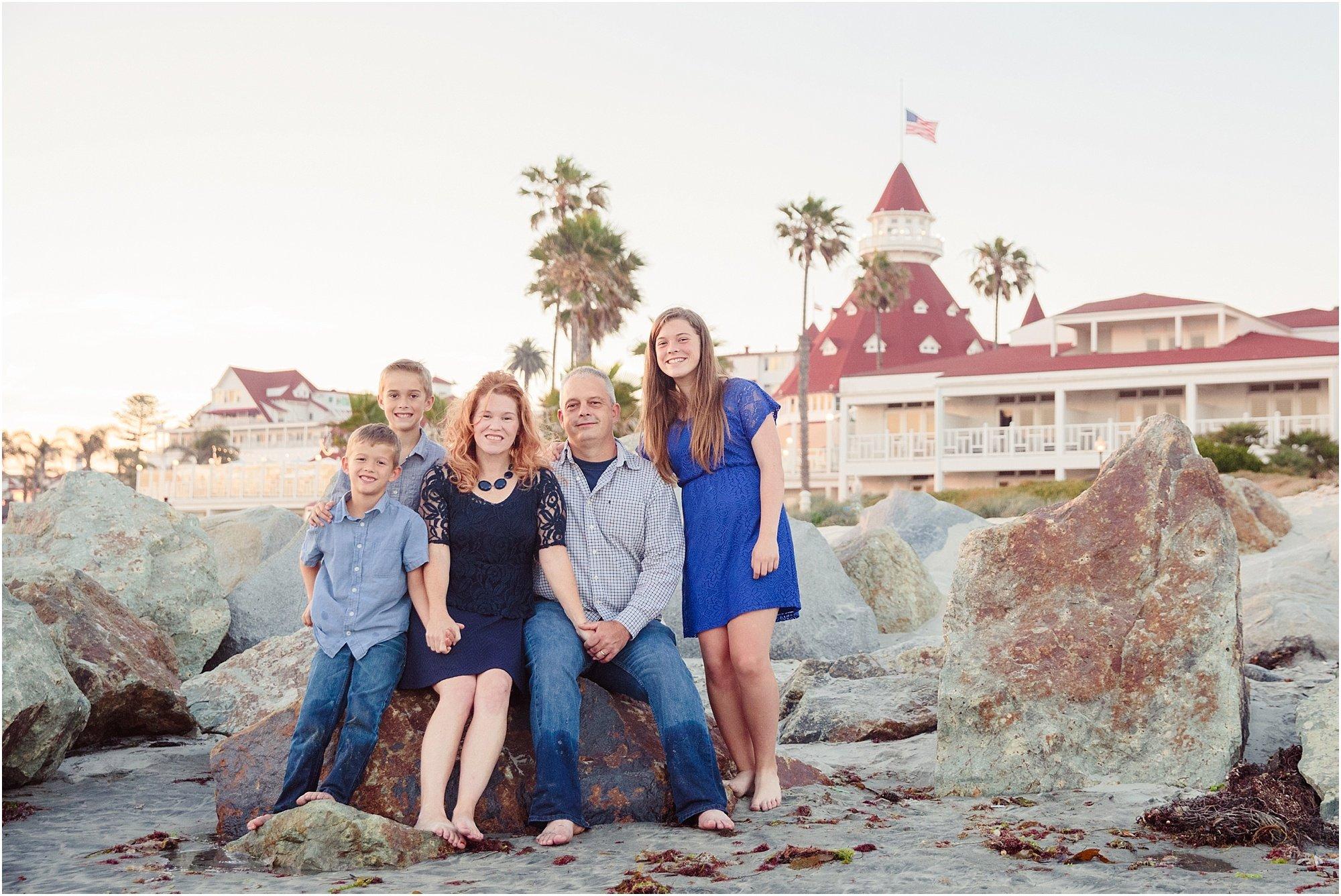 Hotel del Coronado Family Photography