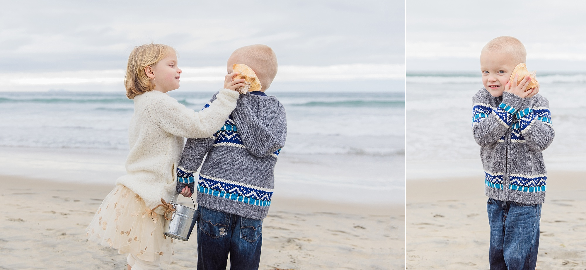 San Diego Family Photographer | Twins on the Beach