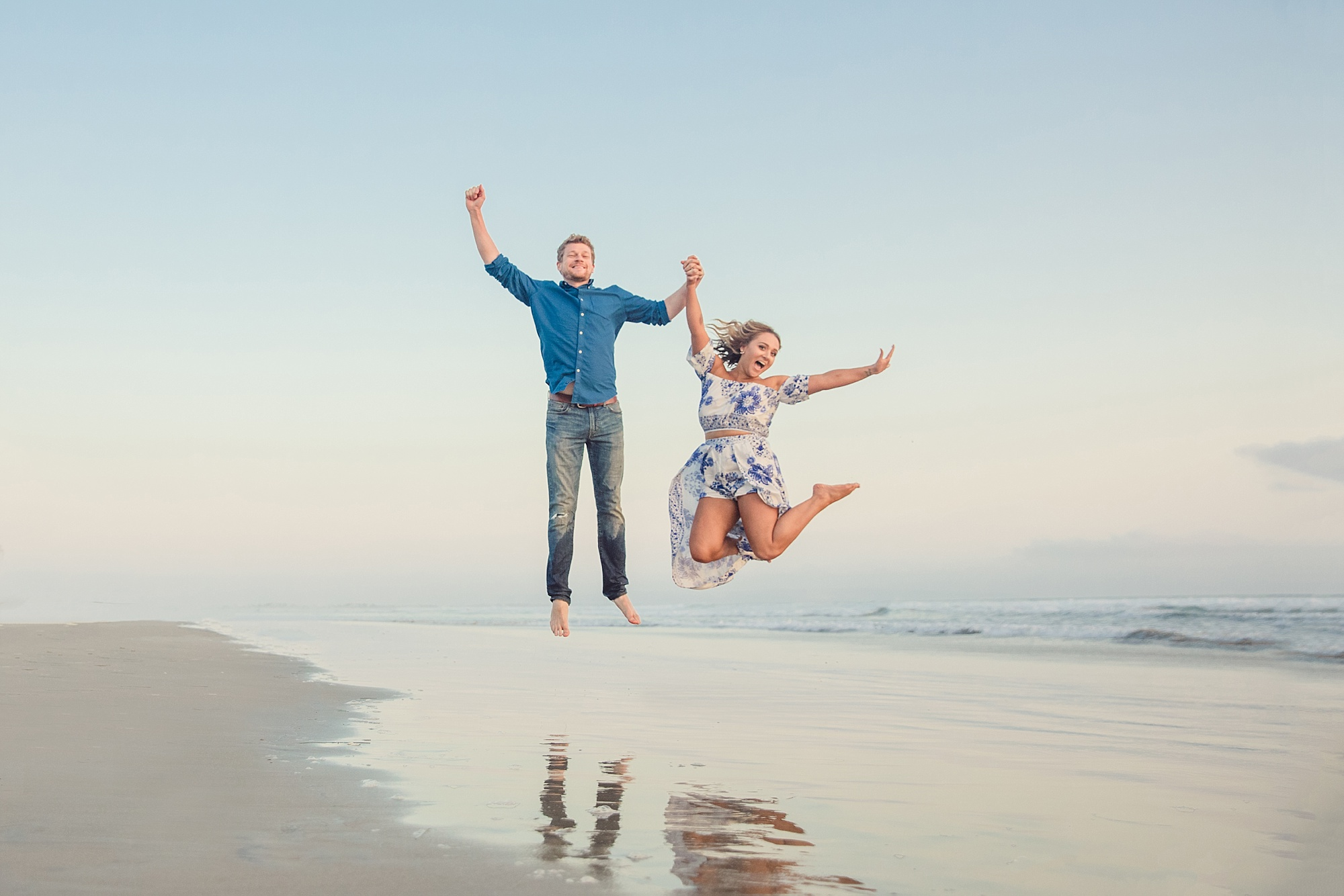 San Diego Proposal Photographer | Jumping Shot