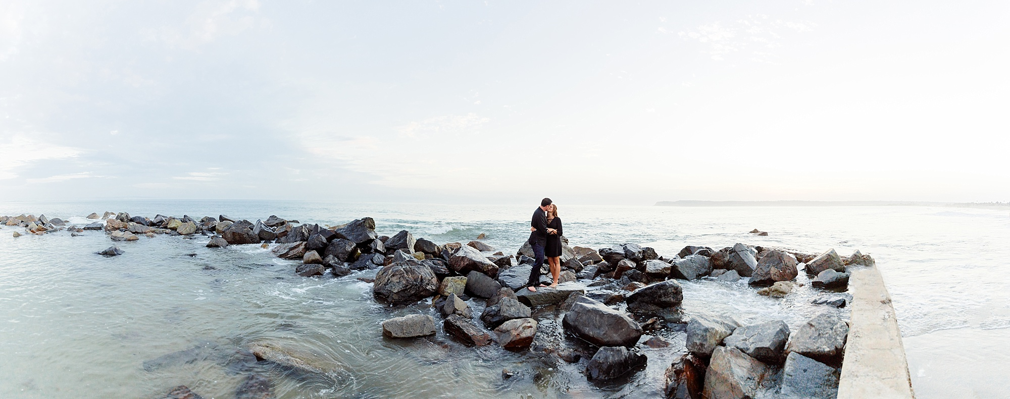 Photographers in San Diego | Beach Proposal at the Del | Panorama