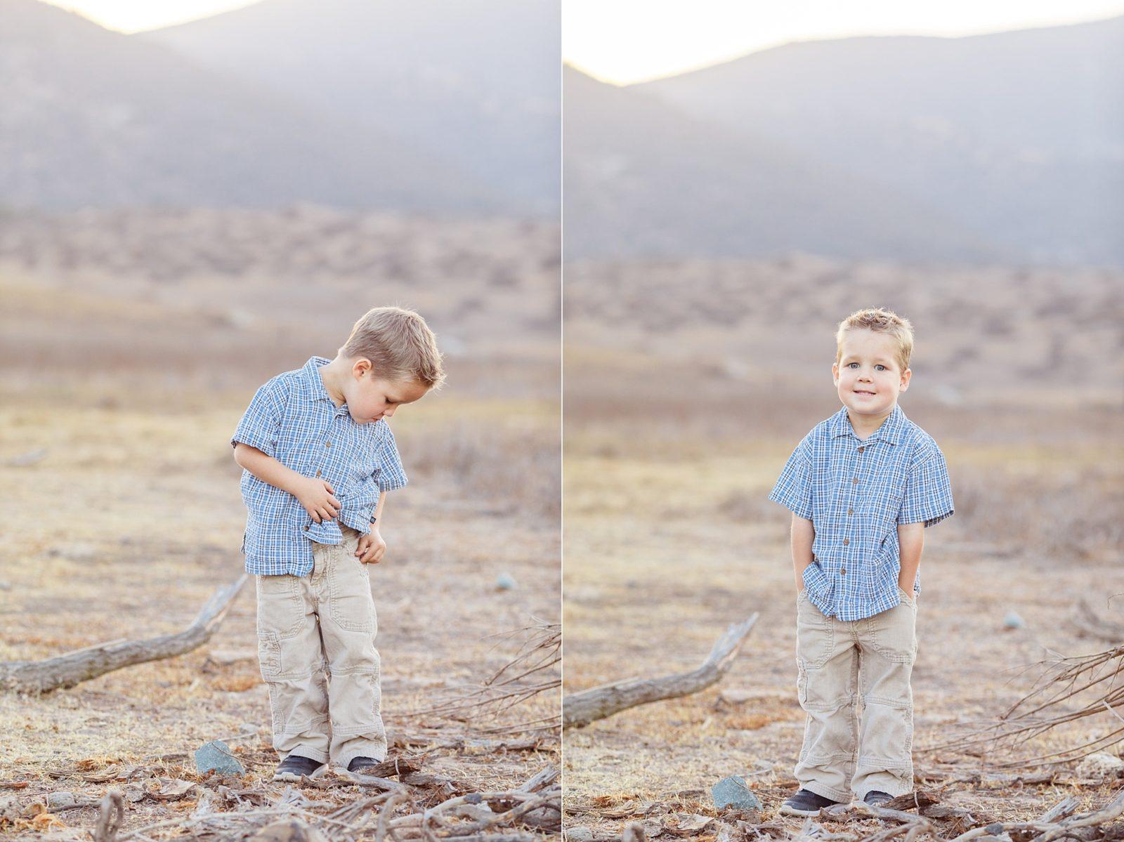 Little Boy Blue | San Diego Family Photography