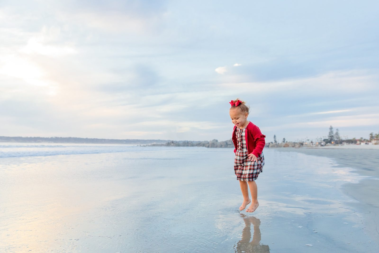 Toddler on the Beach | Christmas at the Del
