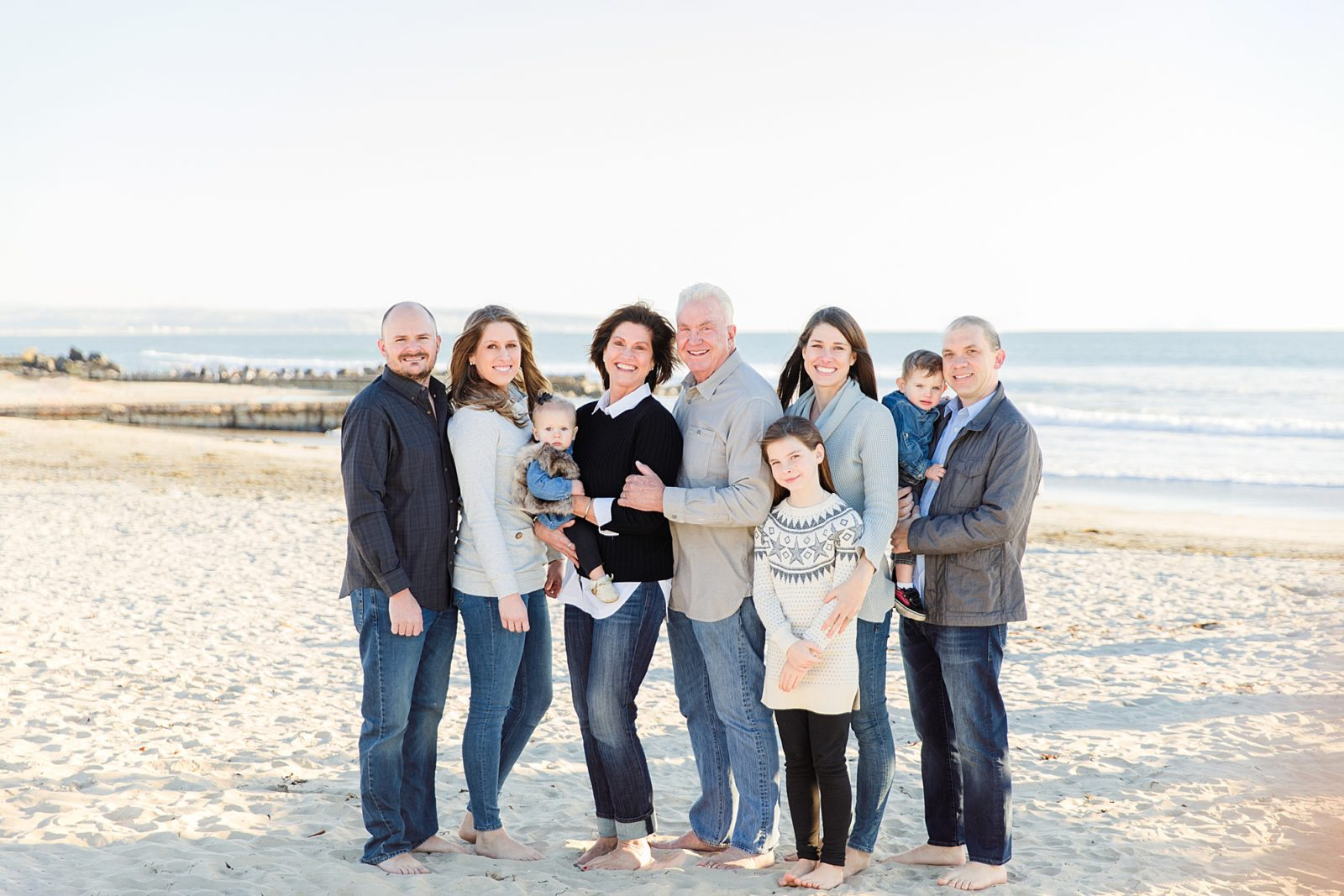 Extended Family Beach Photos | San Diego Photographers