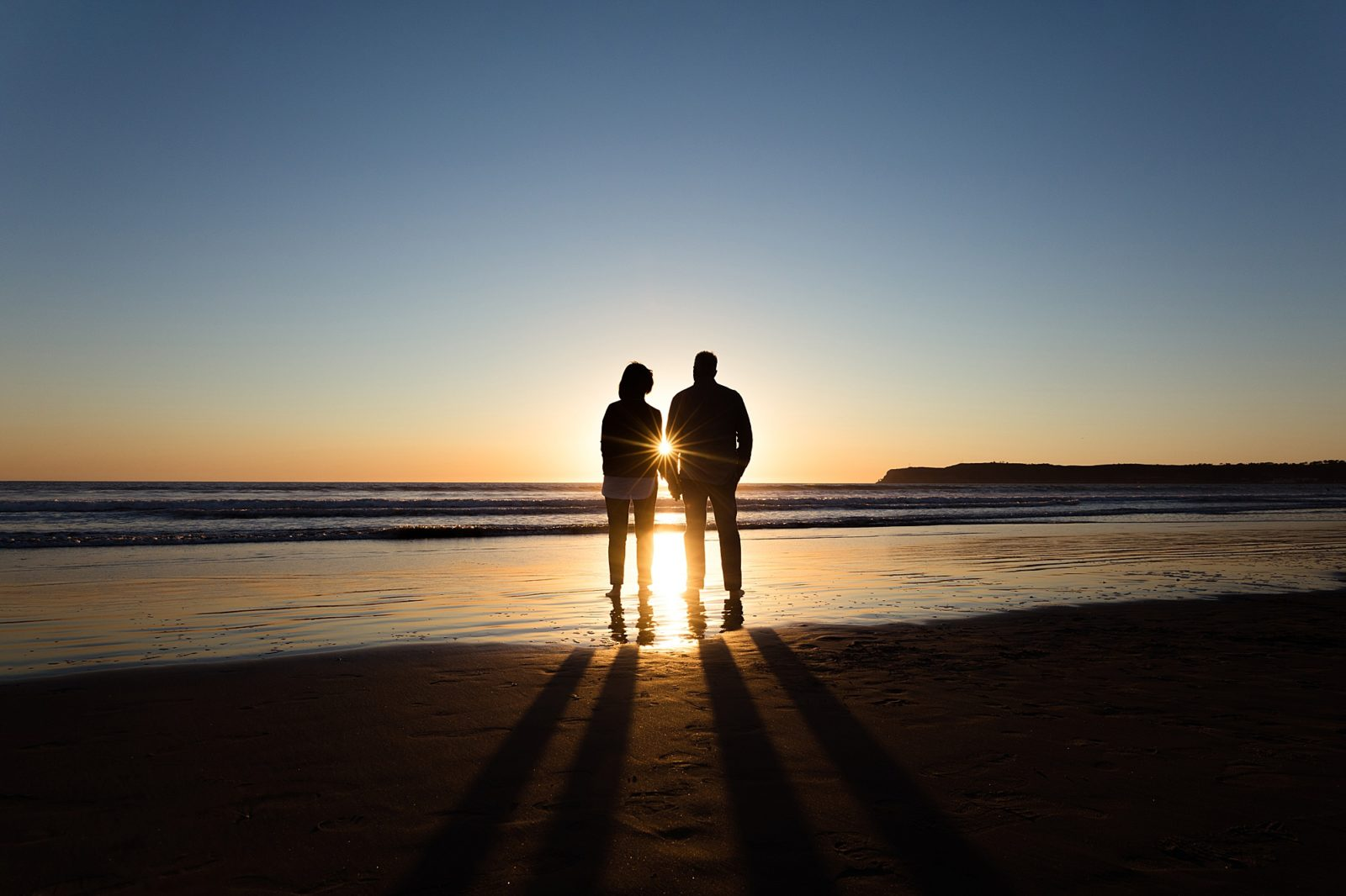 Couple Silhouette | San Diego Beach Photos
