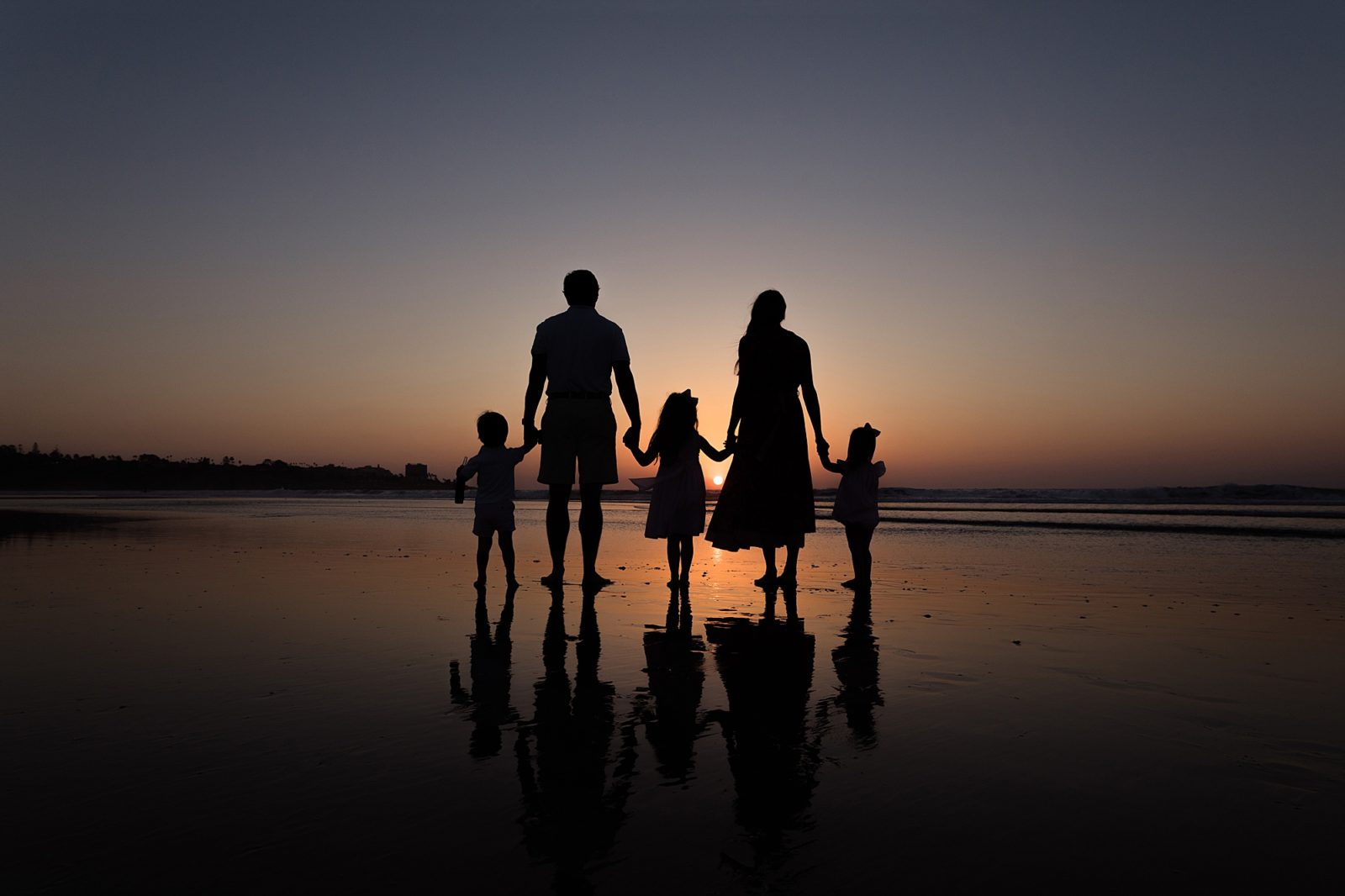 Sunset Silhouette | Family Photography San Diego