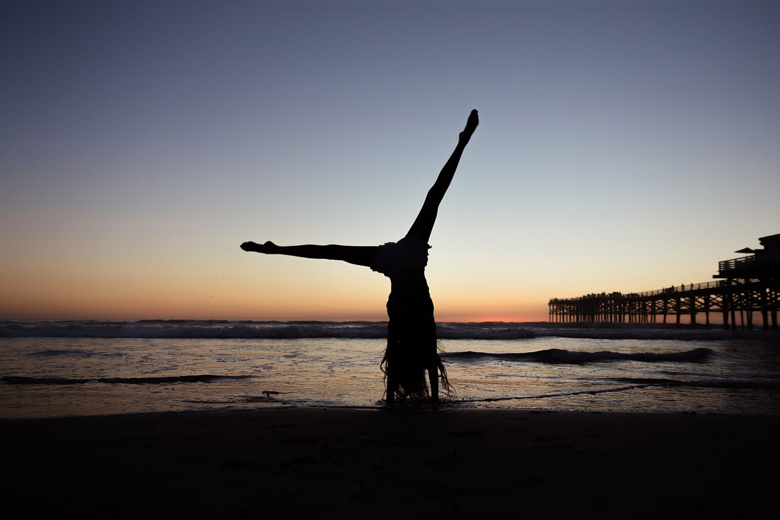 Silhouette Cartwheel | Photography in San Diego