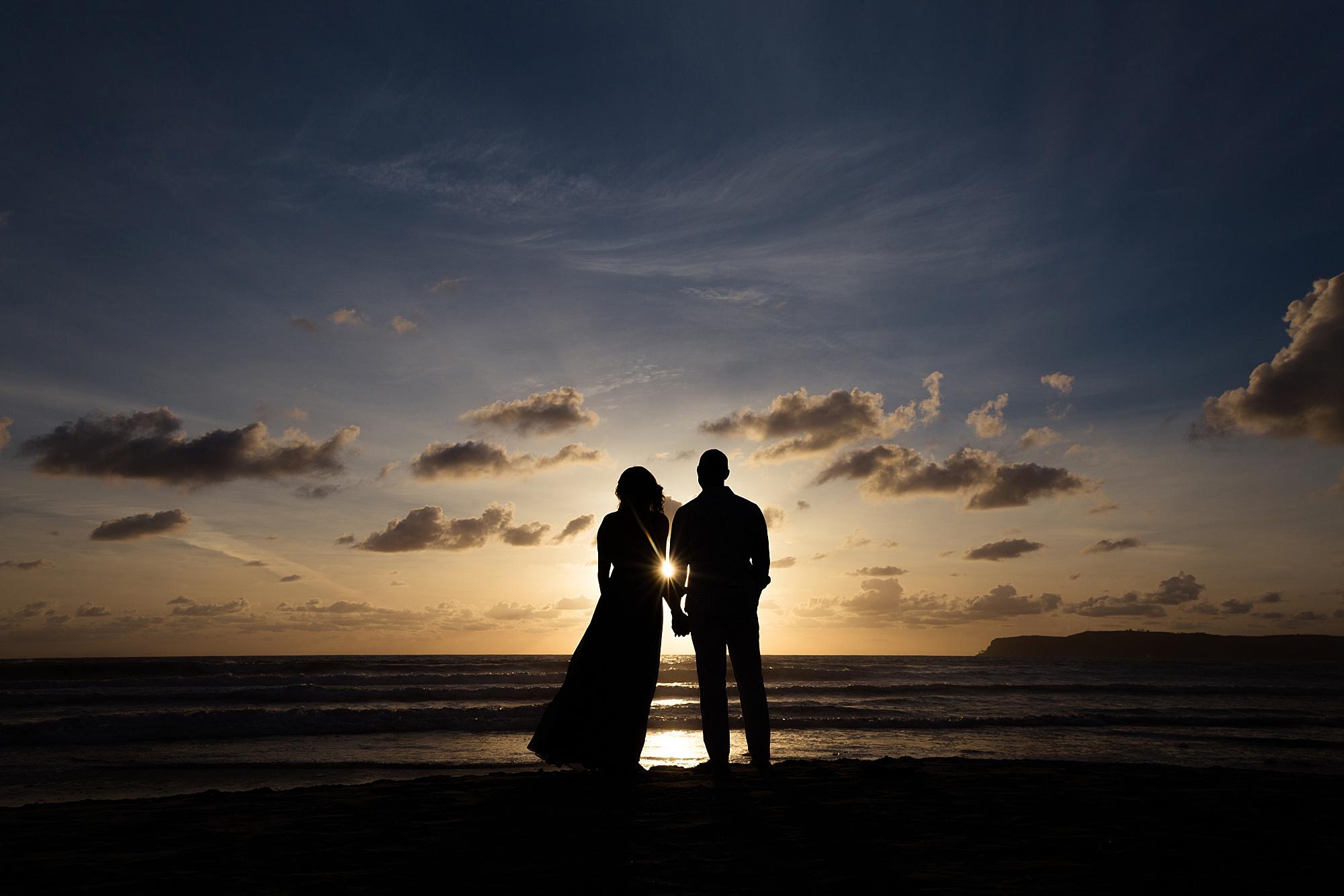 Silhouette Sunset | Coronado Beach Photos