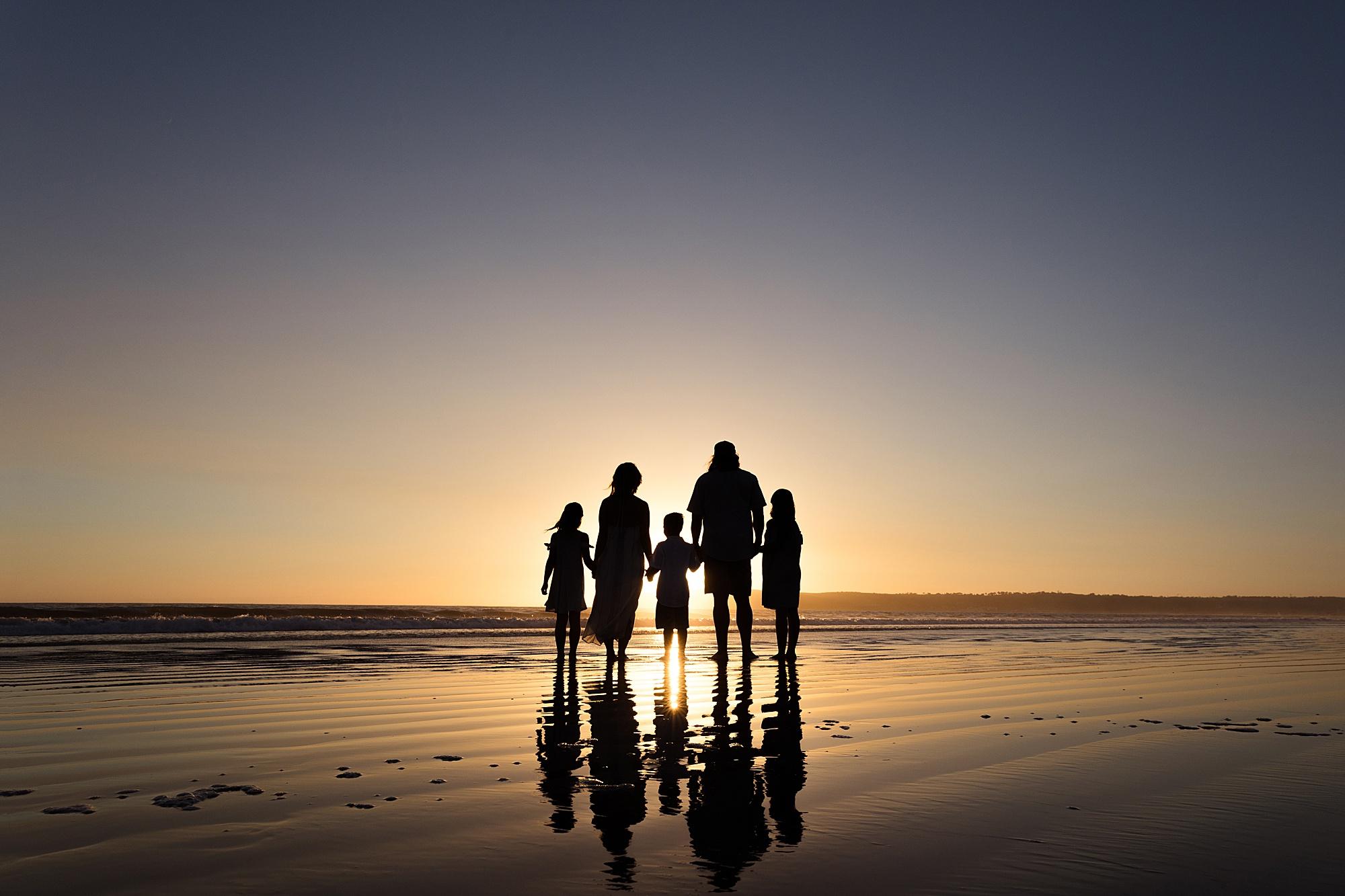 Silhouette Sunset San Diego   San Diego Beach Photography