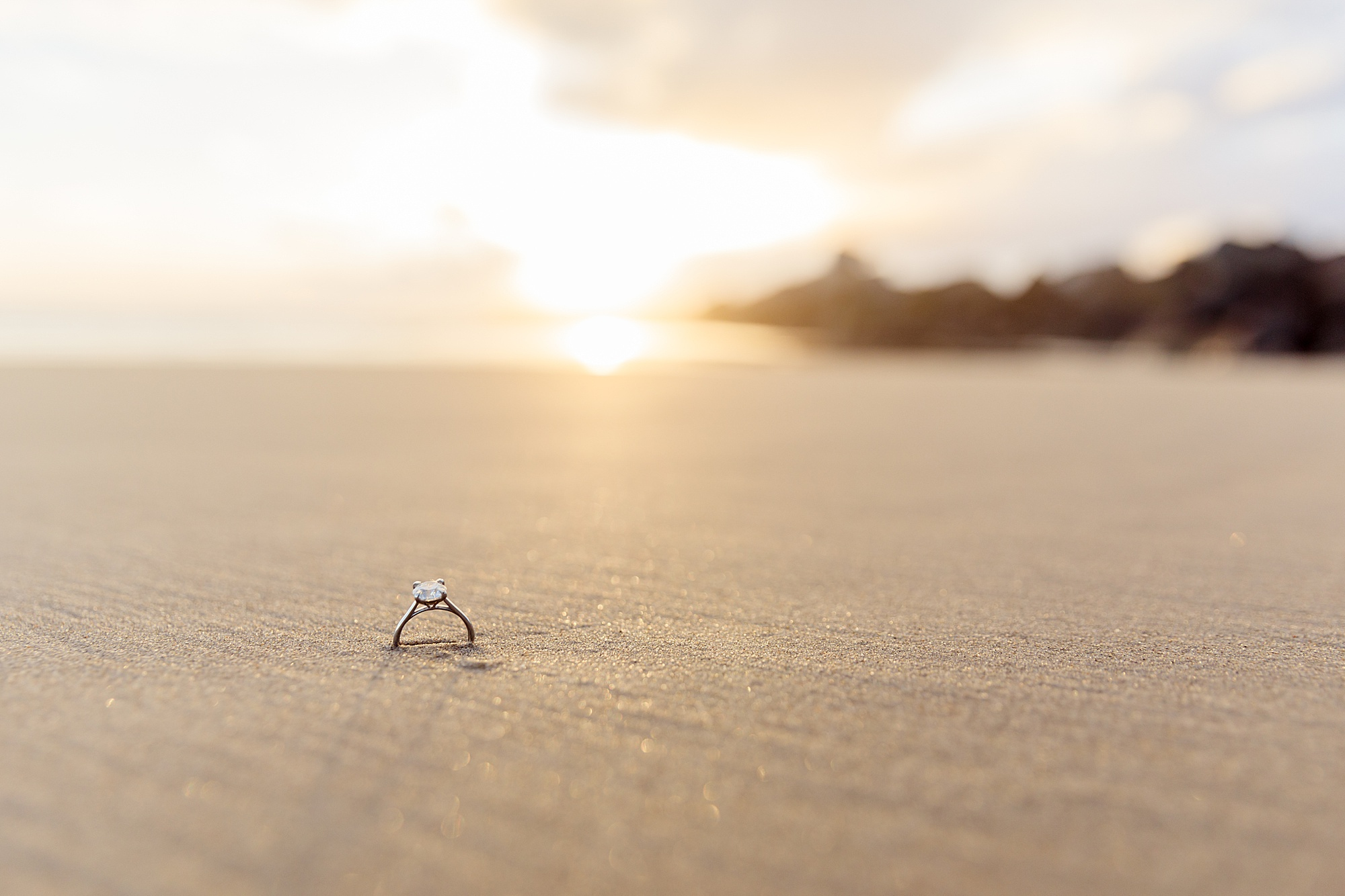 Ring Shot on the Beach | San Diego Beach Photography