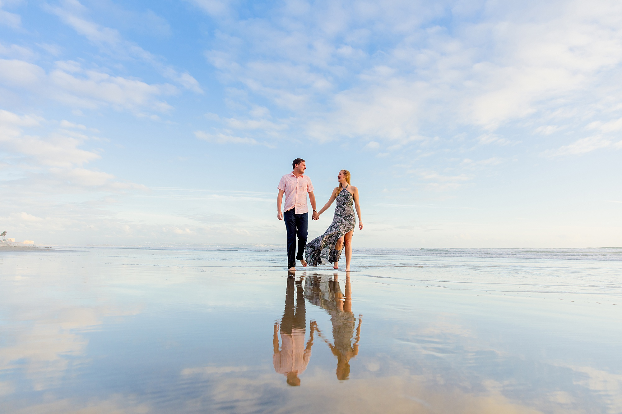 Enagegement at the Del | San Diego Beach Photography