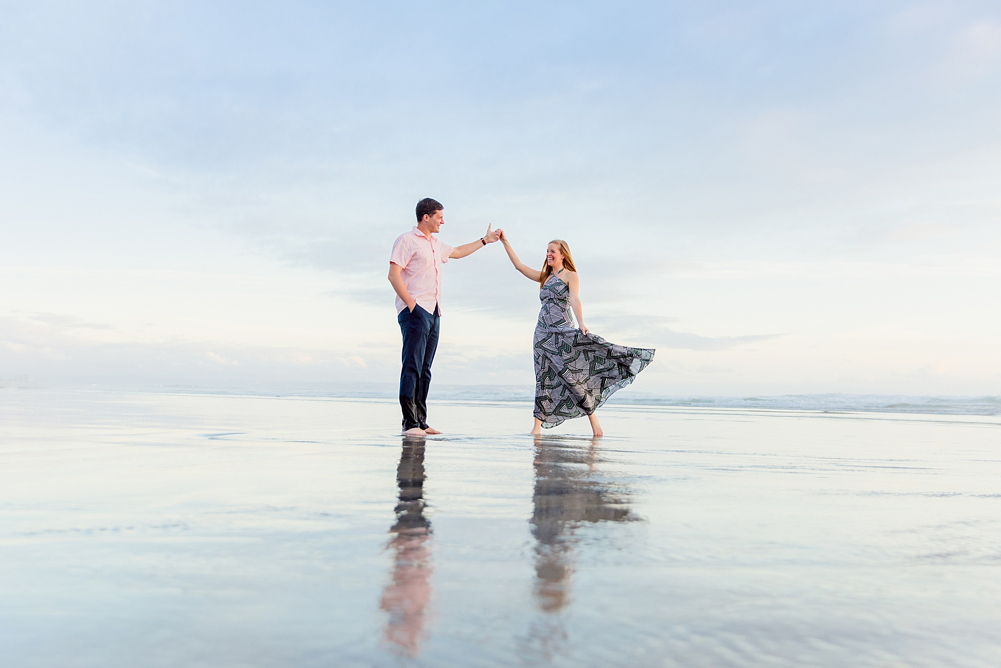 Engagement Dance | San Diego Beach Photography
