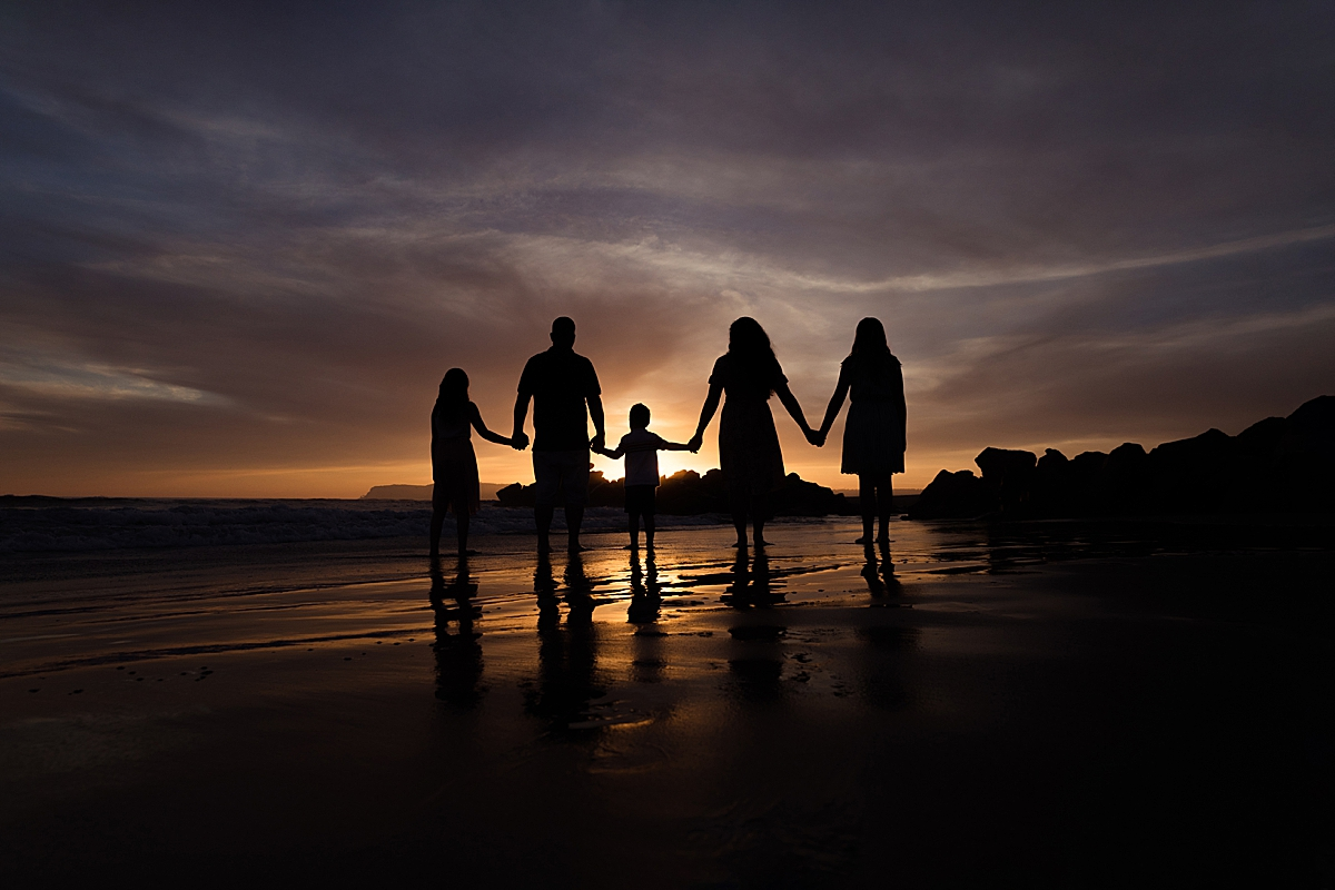 Silhouette on the Beach | Family Photographer in San Diego