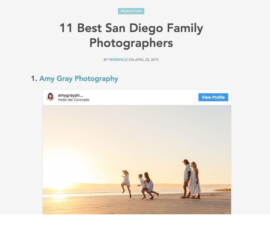 Amy Gray Photography is one of San Diego's 11 Best Family Photographers