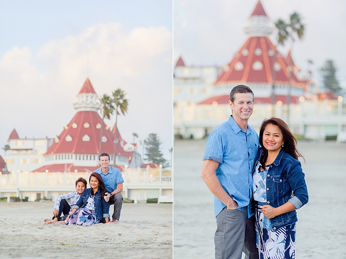 Photos on the Rocks at the Hotel del Coronado