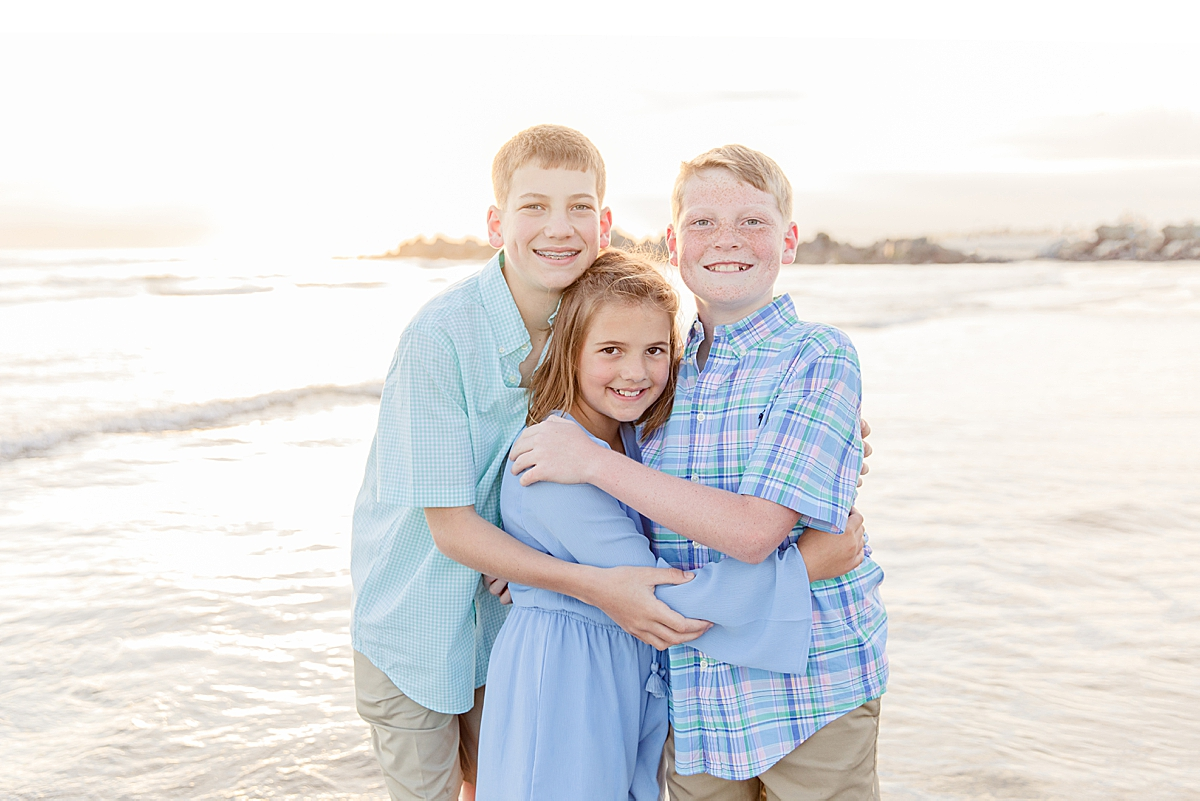 Family Photoshoot on the Beach in Coronado CA