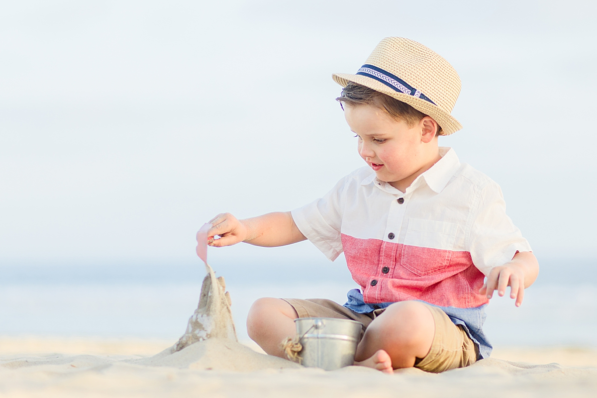 Boy Playing on the Beach