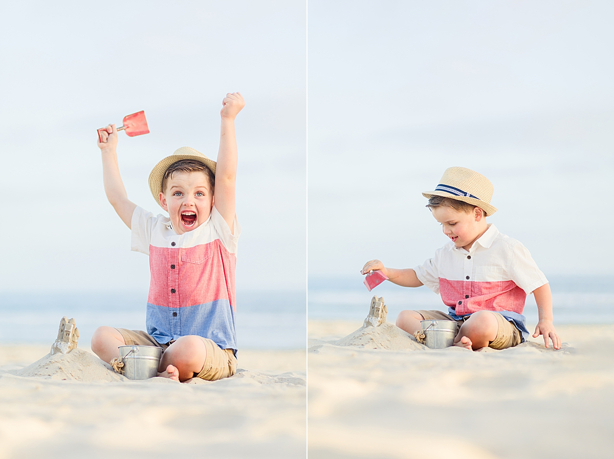 Fun Boy Playing on the Beach