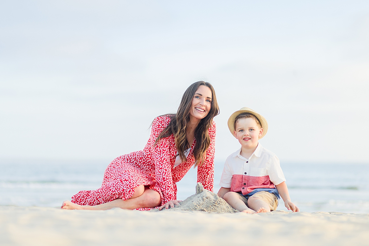 Mother and Son Photos on the Beach