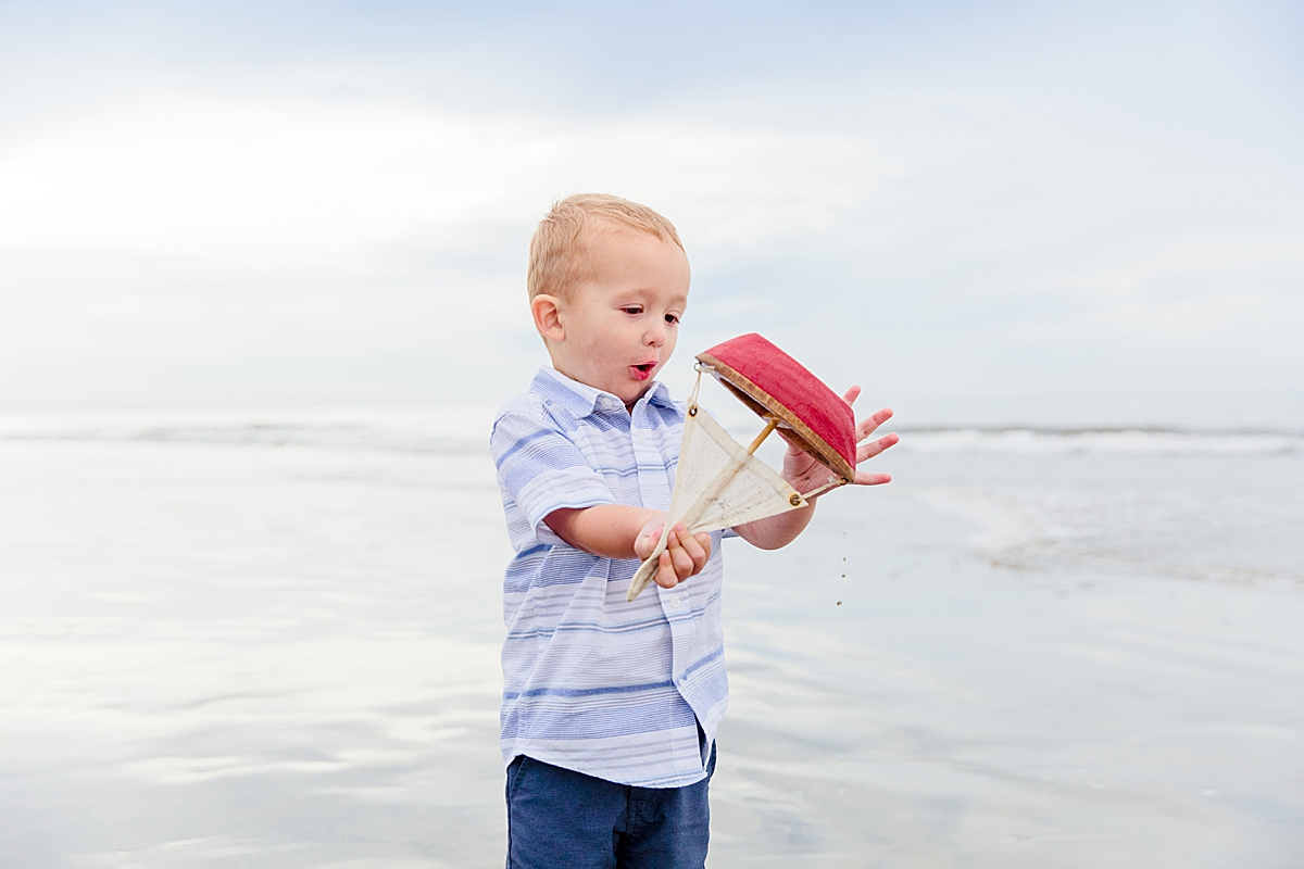 Toddler Portaits San Diego with Sailboat