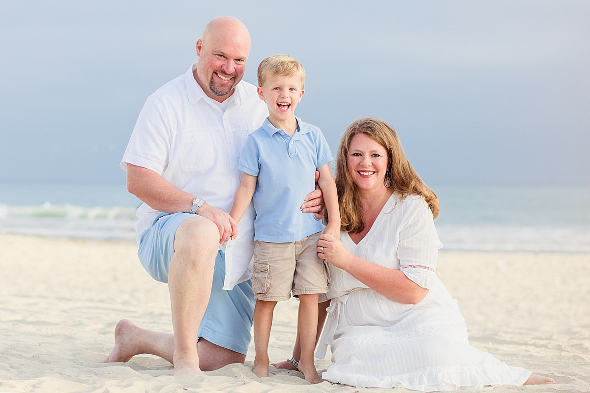 Family Beach Formal Portrait