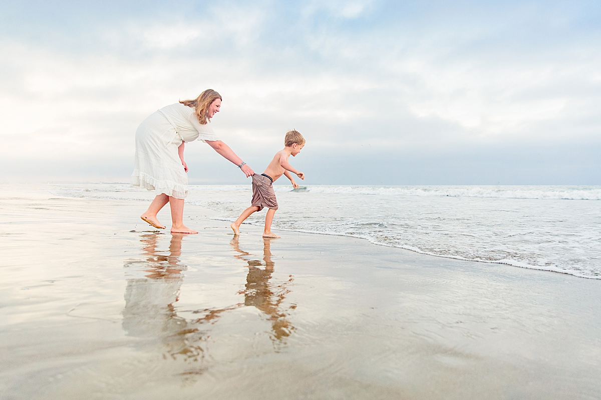 Mother and Son Beach Photo