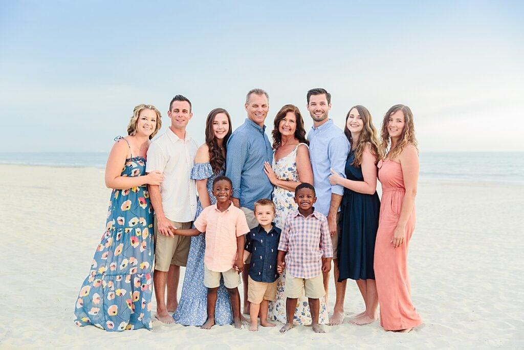 Extended Family Beach Portraits San Diego