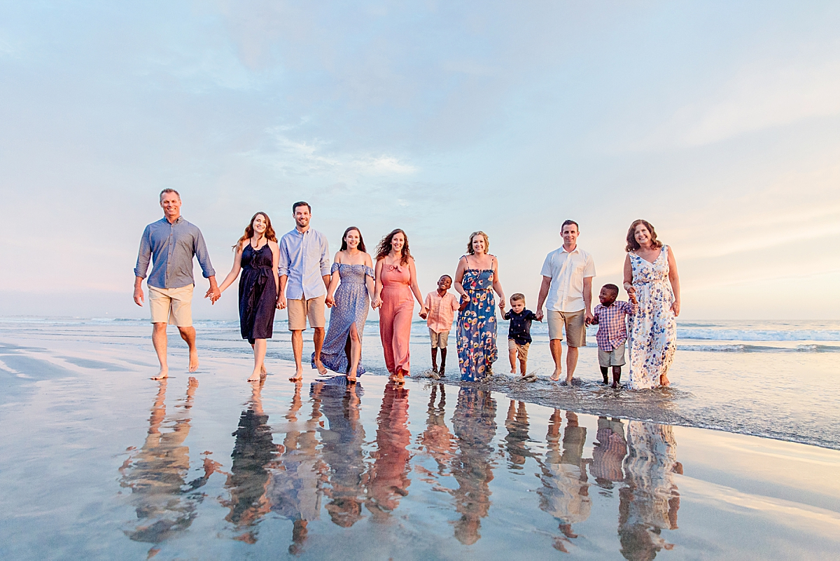 Sunset Family Photos at the Beach