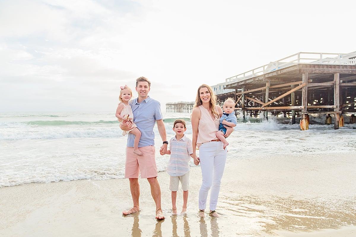 Family Photos in San Diego on the Beach