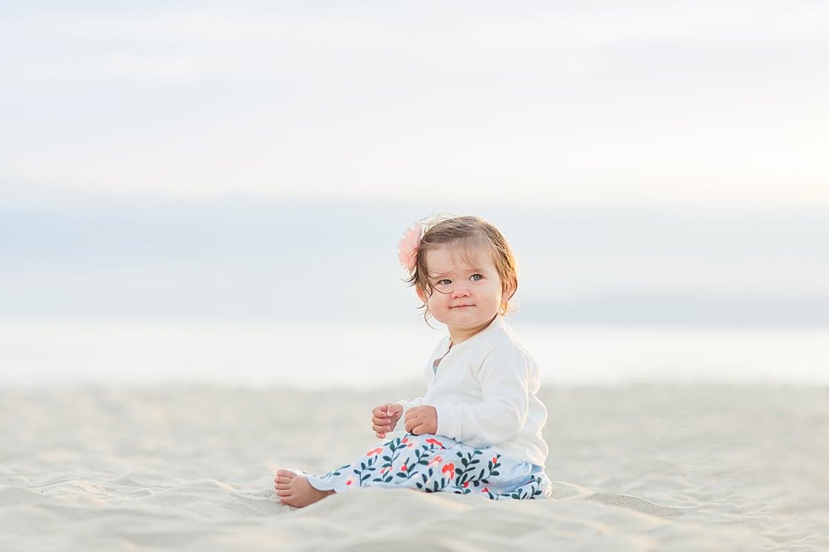 San Diego Beach Photography Baby