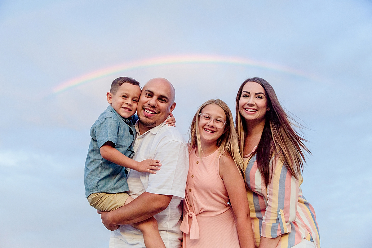 Rainbow Family Portrait   San Diego Photography