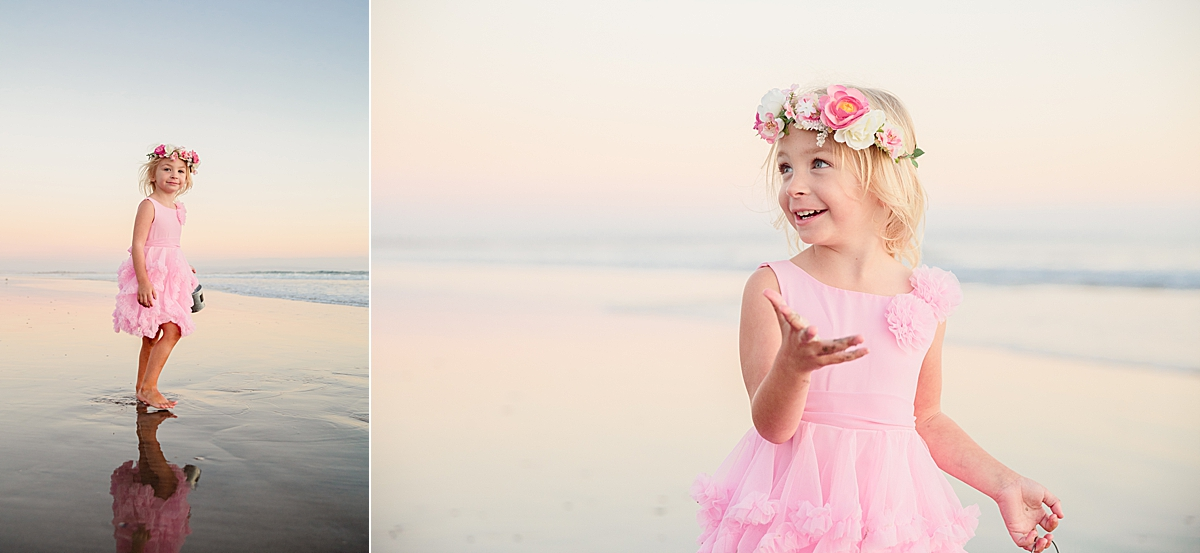 Little Girl in a Pretty Dress | Coronado Child Photos