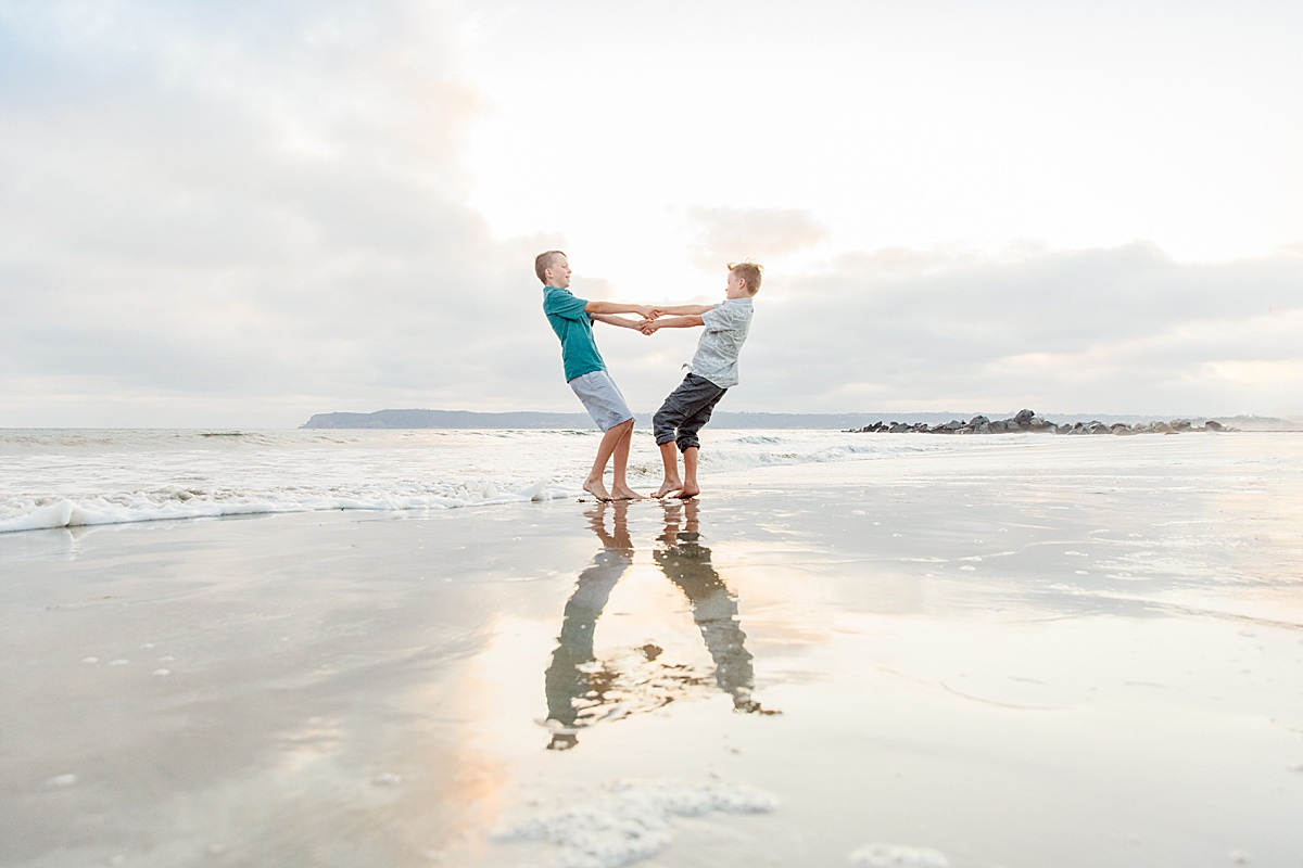 Kids Playing on the Beach | San Diego Professional Photographer