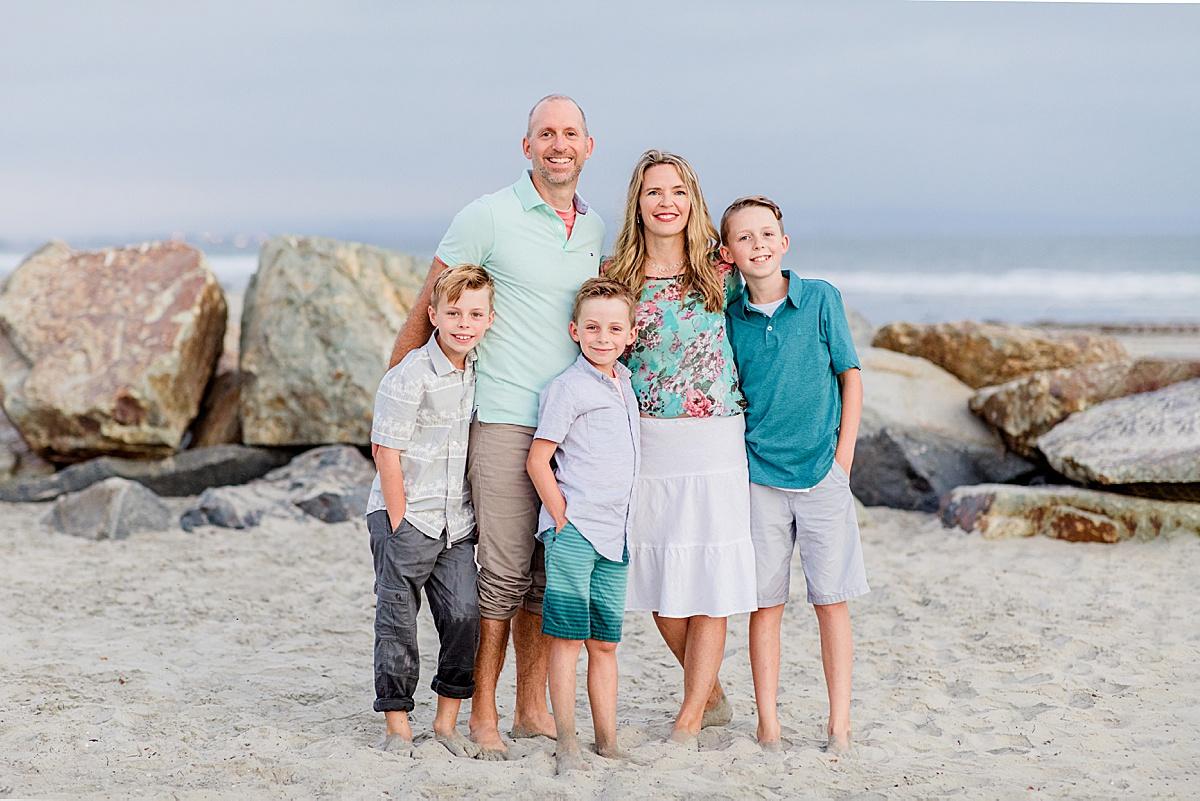 Family Photos on the Beach | San Diego Photography