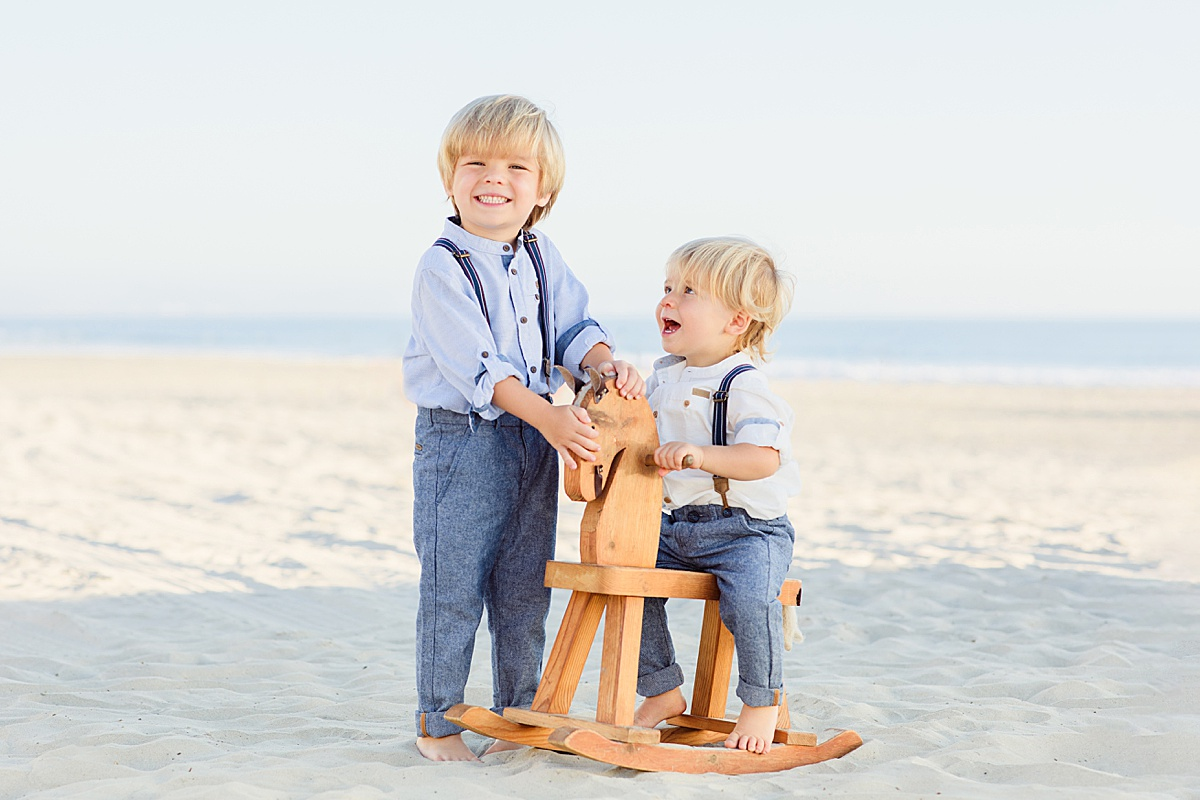 Hobby Horse in the Sand | Little Boys in San Diego