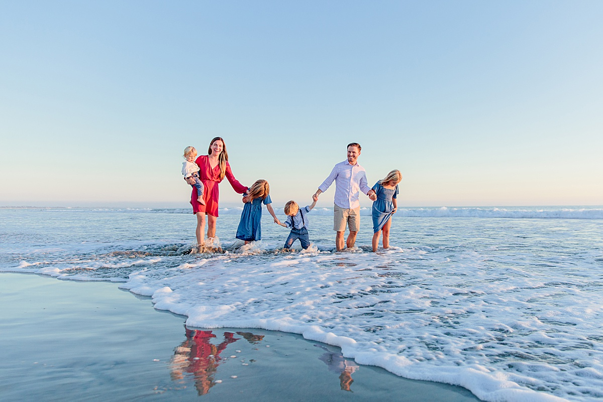Family of Six Reflection | San Diego Photographer