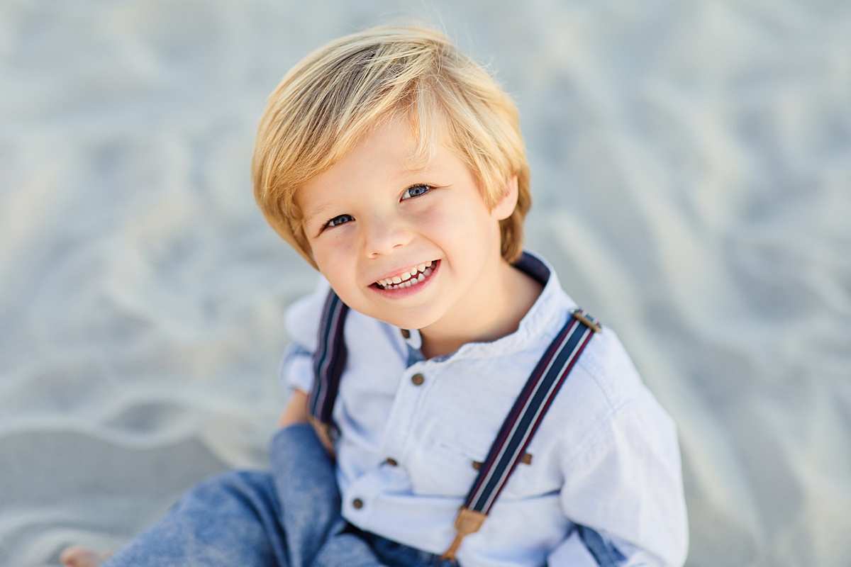 Suspenders in the Sand | Little Boys in San Diego