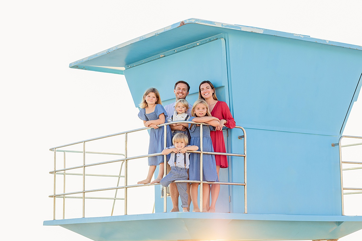Lifeguard Tower on Coronado | Christmas Cards at the Hotel Del