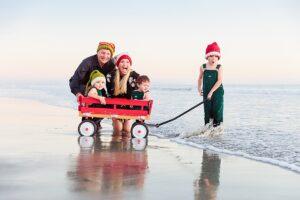 Santa Hats on the Beach